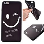 cassa del telefono modello sorriso TPU nero custodia morbida per iPhone 6 più / 6S più