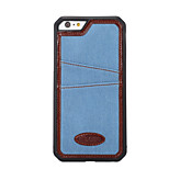 Jean Cloth Insert Card Tpu WIthe Back Case For Iphone6 Plus/6s Plus(Assorted Colors)