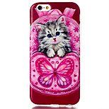 Butterfly Cat Pattern TPU Material Phone Case for iPhone 6/6S