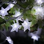 rei ro 30LED estrela da bateria forma levou corda leve luz ao ar livre impermeável string (kl0009-rgb, branco, branco quente)