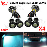 4 X ICE 9W LED Eagle Eye Light Car Fog DRL Daytime Reverse Backup Parking Signal 12V