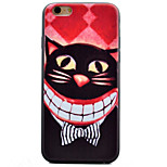 caja del teléfono del modelo de mariposa material de TPU boca del gato para el iphone 6 más / 6s plus