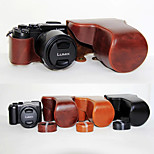 14-140 (모듬 색상)와 파나소닉 DMC-GX8을위한 어깨 끈과 dengpin PU 가죽 카메라 케이스 가방 커버