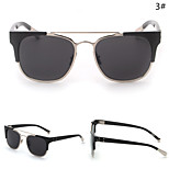 Sunglasses Women's Retro/Vintage / Fashion Browline Black / Silver / Gold Sunglasses Full-Rim