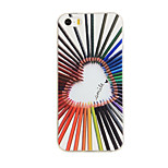 Colorful Love Pattern TPU Soft Case Phone Case for iPhone 5/5S