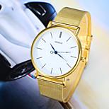 Men's Fashion Watch The New Gold Silver Belt Quartz Watch