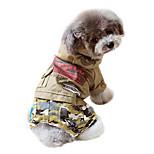 Dog Hoodie Green / Yellow Winter Camouflage Fashion
