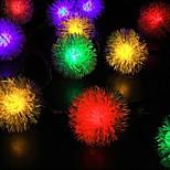 konge ro 50led ventbatteridrevet chuzzle ball førte jul streng lys (kl0074-rgb, hvit, varm hvit)