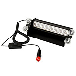 Carchet Car Emergency White Yellow 8 Led Police Strobe Flashing Flash Light