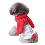 Dog Hoodie Red Spring/Fall Animal / Letter & Number Fashion