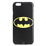 Bat Pattern 3D Print Embossed TPU Soft Back Case for iPhone 6/6s