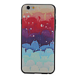 Painted Black Edging Soft TPU Phone Case for iPhone 6/6S