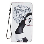 Girl Pattern PU Leather Full Body Case with Stand for Sony Z5