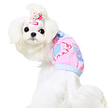 Dog Shirt / T-Shirt Blue / Pink / Yellow Summer Fashion