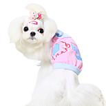 Dog Shirt / T-Shirt Blue / Pink / Yellow Summer Fashion