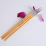 3 PCS Nail Art Tools Gold Painting Brush Kits