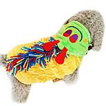 Dog Hoodie / Dress Green / Yellow Spring/Fall Fashion