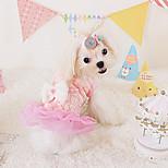Dog Dress Blue / Pink / Yellow Spring/Fall Fashion