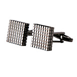 Jewelry Brass Material, Black Cufflinks Lattice Grid Pattern