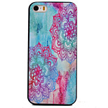 Color Diagonal Flower Pattern Black TPU Soft Case Phone Case for iPhone 5/5S