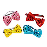 Dog Collar / Bow Tie Adjustable/Retractable / Bowknot / Sequins Red / Blue / Pink Textile