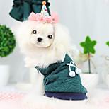 Dog Coat Green / Blue Spring/Fall Fashion