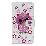 Owl Patter PU Leather Full Body Case with Stand for Wiko Lenny2