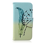 Bird Feather Pattern PU Leather Material Phone Case for iPhone 6/6S