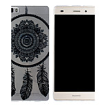 The Three Feathers And Bells Pattern Mobile Shell Transparent TPU Soft Shell Protective Sleeve for Huawei P8 Lite