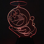 визуальный 3d Doraemon изменения цвета водить украшения USB настольная лампа красочный подарок ночник