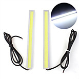 2 PCS 5W COB White LED Daytime Running Lamp Light DRL Fog Car Truck Driving