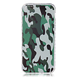 Green Camouflage Pattern On The Half-Slip TPU Phone Case for iPhone SE