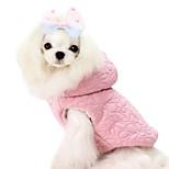 Cani Cappottini / Felpe con cappuccio-Inverno-Di tendenza / Tenere al caldo Floral / botanico-Rosa / Giallo- diCotone / Acrilico
