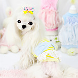 Dog Coat Blue / Pink / Yellow Summer Fashion