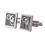 Jewelry Brass Material, Square Bicycle Design Cufflinks