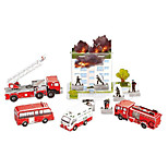 Fire Engine Trucks Set 3D Puzzles Paper DIY Toys Modeling Toys