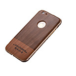 Double Color Wood Pattern/ Metal Frame /PC 3D Background Mobile Phone Case for iPhone6 Plus/6S Plus
