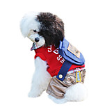 Dog Clothes/Jumpsuit Red / Green Winter / Spring/Fall Letter & Number Keep Warm / Fashion