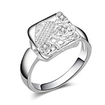 Silver Plated Ring Band Rings Party / Daily / Casual 1pc