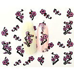 10PCS 3D Water Transfer Pink Plum Flower Nail Art Sticker DIY Decoration  Nail Tools Nail Tips BLE851D