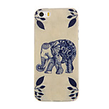 Blue Elephant Pattern TPU Soft Case Phone Case for iPhone 5/5S
