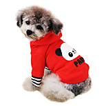 Dog Hoodie Red / Pink Winter Cartoon / Letter & Number Fashion
