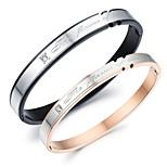 AAA Dirconium Titanium Steel Drill Couple Bracelet