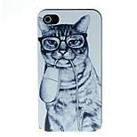 étui rigide souris et motif de chat pour iPhone 4 / 4S