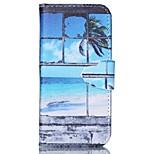 Fenster gemalt PU-Telefonkasten für iphone5 / 5s