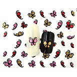 10PCS 3D Water Transfer  Butterfly Nail Art Sticker DIY Decoration  Nail Tools Nail Tips BLE848D