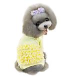 Hunde T-shirt Rosa / Gelb Frühling/Herbst einfarbig Modisch