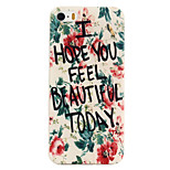 Ink Flower Pattern TPU Soft Case Phone Case for iPhone 5/5S