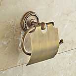 Brown Toilet Paper Holder , Traditional Antique Copper Wall Mounted