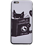 Cute Cat Pattern Black TPU Soft Case Phone Case for iPhone 6/6S